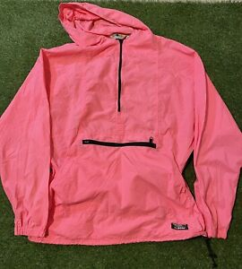 VINTAGE LL BEAN Anorak Windbreaker Pink Mens Size L Made In USA