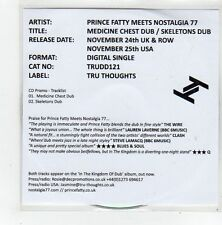 (FL982) Prince Fatty Meets Nostalgia 77, Medicine Chest Dub - 2014 DJ CD