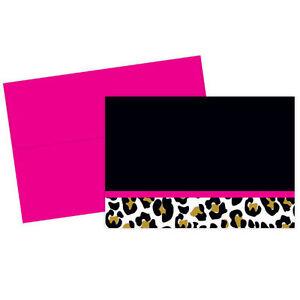 Leopard Print Wedding Thank You Notes 24/pk with Envelopes