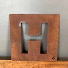 Rostbraun Metall Scrabble Buchstaben Fliesen Wand Dekoration Kunst Persönlicher