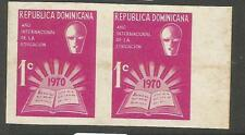 Dominican Republic SC RA48 Imperf Pair MNH (6cxj)