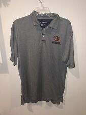 Chiliwear Auburn Tigers Mens Size L Golf Casual Polo Shirt Performance Gray