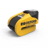 Oxford Quartz XA10 Motorcycle Alarm Disc Lock Yellow/Black LK216
