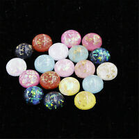 20pcs Resin Flatback 8-12mm Gold Foil Round Cabs Cameo Jewelry DIY  Accessories