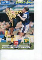 10/04/1993 Ipswich Town v Arsenal  (Folded)