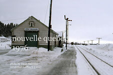 Canadian National Rwy  Novelle station Quebec 1976   Gaspe Peninsula x