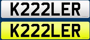 """KILLER!!  Number Plate """"K222LER"""" Private Number Plate"""