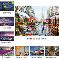 1000 Pieces Eiffel Tower Jigsaw Puzzles Flower Street Landscape Games Puzzle Toy