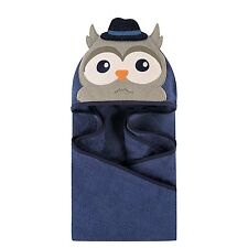 HUDSON BABY Animal Face Hooded Baby Toddler Towel MR OWL - Great Gift