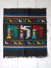 "Native American Hand  Embroidered Towel Linen wall hanging placemat 22"" x 25"""