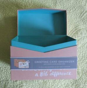 NEW Hallmark Greeting Card Organizer BOX Birthday Holiday Gift Envelope Storage