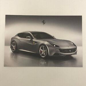 Ferrari FF Advertising Card Postcard Brochure - Italian Text
