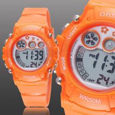 Ohsen Teen Kid Digital G Sport 12/24 Hour Alarm Quartz Watch Proof Shock Orange