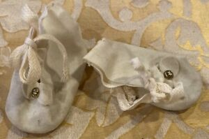 Vintage Shoes for Antique Bisque or Early Doll, See Ruler For Size