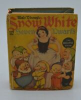 WALT DISNEY'S SNOW WHITE AND THE SEVEN DWARFS #1460 BIG LITTLE BOOK 1938