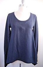 LULULEMON heathered indigo blue Tea Lounge Pullover Sweatshirt Top 6 WORN ONCE