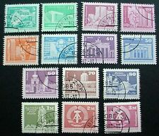 1980 GERMANY: EAST GERMAN ARCHITECTURE: SET OF 14 MNH FROM PRE CANCELLED SHEETS