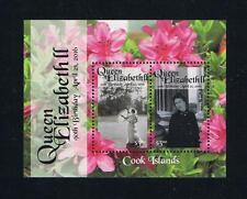 Cook Islands - 2016 90th Birthday of Queen Elizabeth Postage Souvenir Sheet