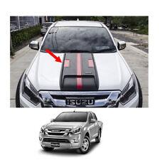 Bonnet Hood Scoop Cover Matte Black Red 1Pc For Isuzu D-max Holden Rodeo 16 - 17