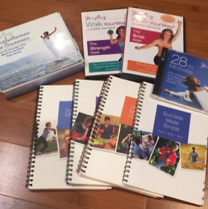 Lot of 8 Jenny Craig weight loss program books, CDs and DVDs COMPLETE dieting