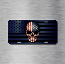 American Flag SKULL Vehicle Patriot License Plate Auto Car Tag USA America