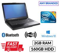 Cheap Branded Laptop Intel Core 2 Duo 2GB 160GB Win 10 Any Model/Make WebCam DVD