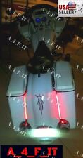 "Bagger Dual 12"" LED Light Strips Rear Fender Stop, Turn Signals Harley Davidson"