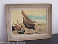 ancienne Peinture signée marine