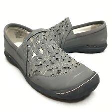 JBU by Jambu Wildflower Moc Vegan Floral Shoes Gray Traction Walking Shoes 7