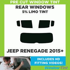 Pre Cut Window Tint - Jeep Renegade 2015 5% Limo Rear