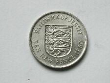 Jersey (Great Britain) 1980 10 NEW PENCE (10p) Elizabeth II Odd Dappled Surface