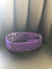 Rhinestone Bandana Purple