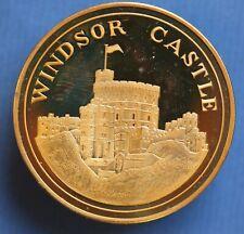 1984 Unicorn of Scotland Windsor Castle bronze boxed medallion *[17556]