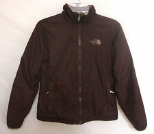 North Face Snowboard Ski Jacket Brown Nylon Drawstring Lined Women Size Small