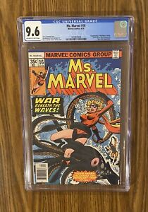 Ms MARVEL #16 CGC 9.6 ~ Scarlett Witch 1st appearance of MYSTIQUE 1978 🔥 🔑