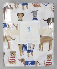 Pottery Barn Kids・Salty Dog Queen Sheet Set・Puppies Beach Madras NWT