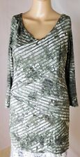 Boho Chic Women's Knit Top Size S - Wrap Front Layers - Viscose/Spandex Blend