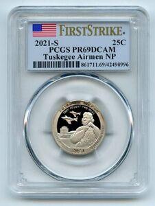 2021 S 25C Clad Tuskegee Airmen Quarter PCGS PR69DCAM First Strike