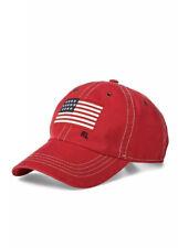 NWT New Ralph Lauren POLO Men's Red American Flag Sports Baseball Cap $59.50