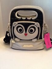 NWT Betsey Johnson Top Handle Lunch Tote Bag Insulated Hedge Hog Black