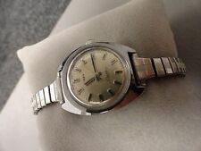 """Timex ladies Electric water resistant new battery 6 1/2"""" stretch Antique Nice"""