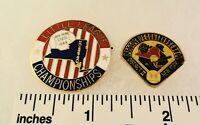 2 Little League Baseball PINs - (Cloisonne / Oversize) LL Championships NY D2