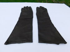 DESIGNER LADIES BROWN LEATHER DRESS GLOVE SILK  LINING SIZE 7 MADE IN ITALY