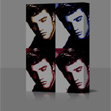 Singer Elvis Presley Large 16x12 Inch Framed Canvas Art Picture Print Popart Pop