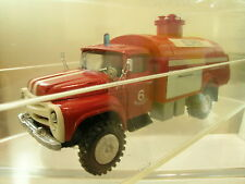 BRAND ?? RUSSIAN ZIL 130 FIRE TRUCK COLOUR RED HANDBUILT BOXED SCALE 1:43