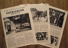 Article Caves Patriarche,Bourgogne,Visitandines,vin,photos ,  1968 , clipping