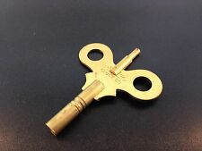 Waterbury Antique Clock Key size 6/4 Brass Double End Key New