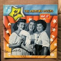 THE BEST OF THE ANDREWS SISTERS VOL 2  NR MINT DOUBLE VINYL LP / 1st pressing
