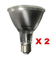 Pack of 2 PAR 38 LED 6W Spotlight Bulbs ES-E27 Cap Indoor/Outdoor Energy Saving