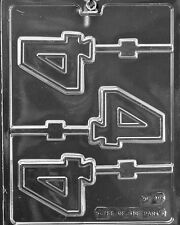 Number 4 # Four  Lollipop Sucker Chocolate Mold Soap Candy  SHIPS SAME DAYm221